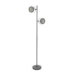 Dimbare LED vloerlamp grijs-betonlook