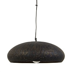Brons-bruine hanglamp met gaatjes