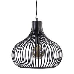 Metalen draad hanglamp modern zwart