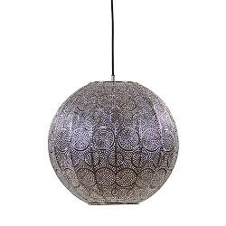Hanglamp bol oriental zilver 40cm