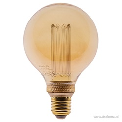 3-standen Led lamp 5 watt gold 95mm E27