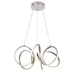 Moderne hanglamp krul staal incl LED