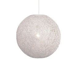 Hanglamp Abaca wit hal/keuken 35 cm