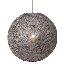*Sfeervolle hanglamp Abaca grijs 60 cm
