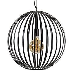 Grote ronde hanglamp zwart metaal 50cm