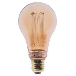 3-standen LED lamp 5 watt E27 gold A60