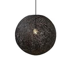 Ronde hanglamp Abaca zwart 35 cm