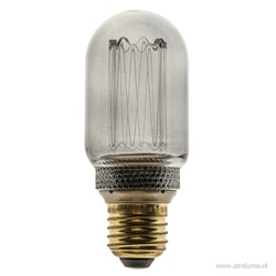 3-standen Led lamp 5 watt smoke E27 T45