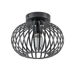 Plafondlamp donut klein draad zwart 25cm