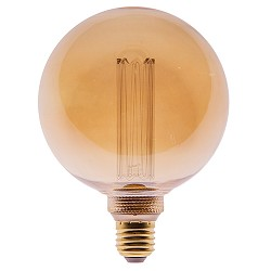 3-standen dimbare LED lamp globe 4,5W gold G125