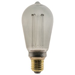 3-standen dimbare LED lamp 4,5W smoke ST64