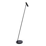 Strakke zwarte design vloerlamp LED