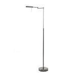 *Moderne vloer-leeslamp staal met dimmer