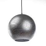 Decoratieve oosterse hanglamp zilver