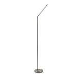 Dimbare LED vloerlamp staal verstelbaar