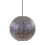 Oosterse hanglamp gepolijst nikkel 40 cm