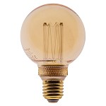 Led 5w e27 globe 80mm gold 3-stappen dim