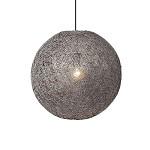 Grijze Abaca hanglamp klein 35 cm