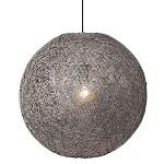**Sfeervolle hanglamp Abaca grijs 60 cm