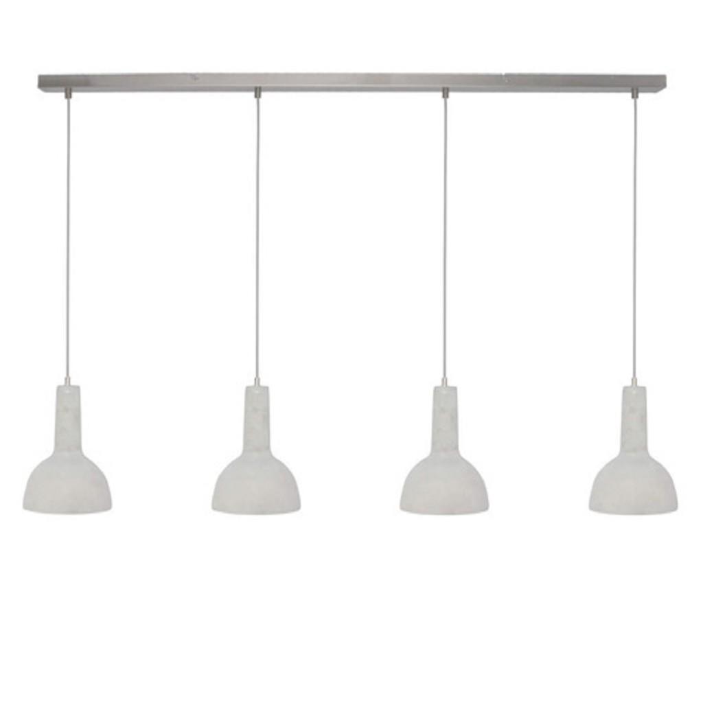 Beton hanglamp eettafel 4-lichts