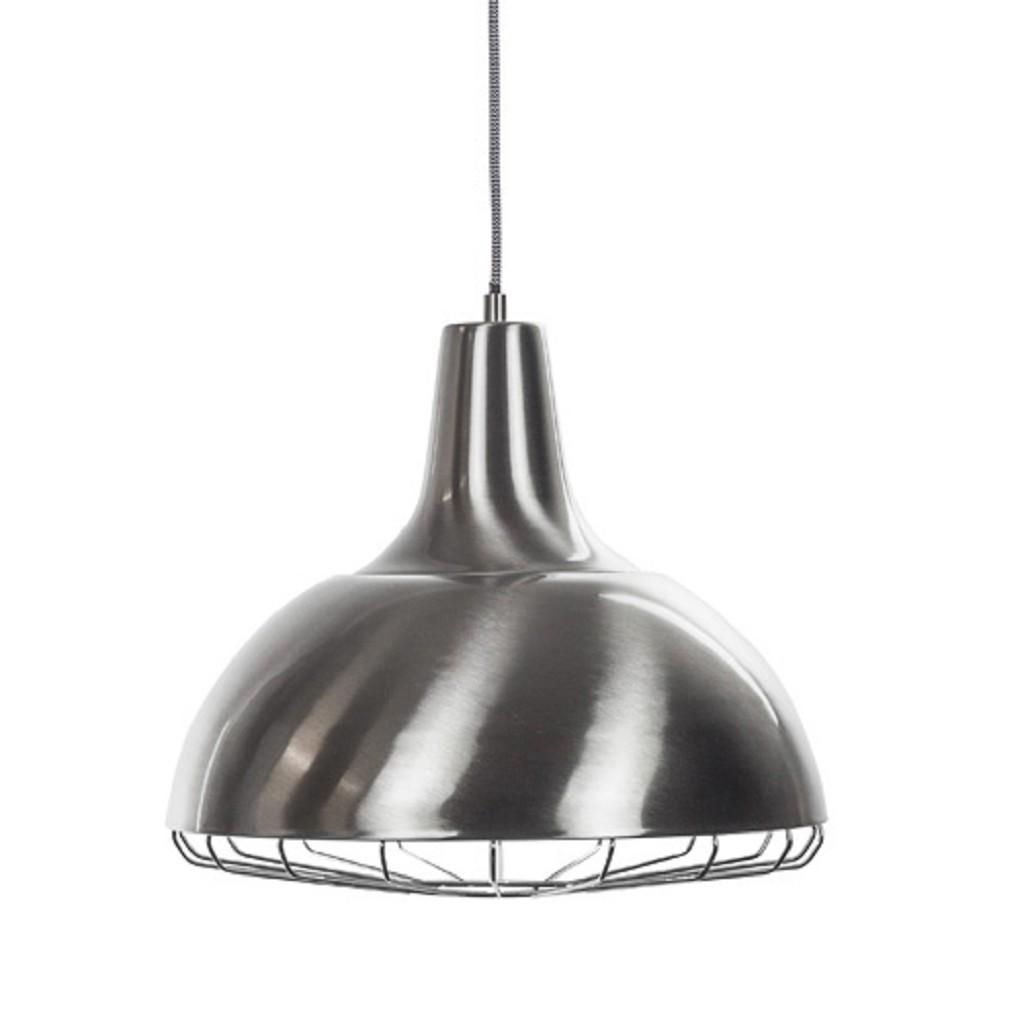 Moderne stalen hanglamp keuken