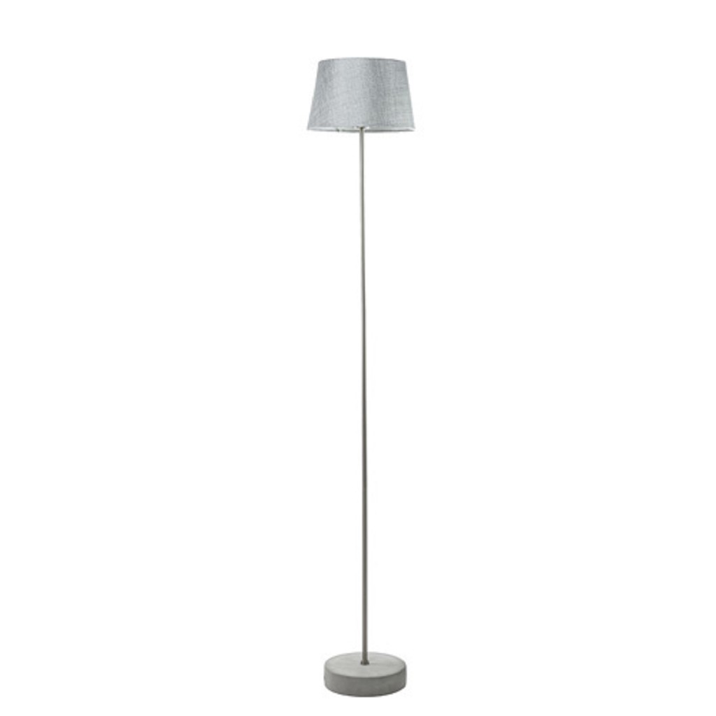Staande Lamp Met Kleine Kap.Trendy Vloerlamp Betonvoet Grijze Kap Straluma