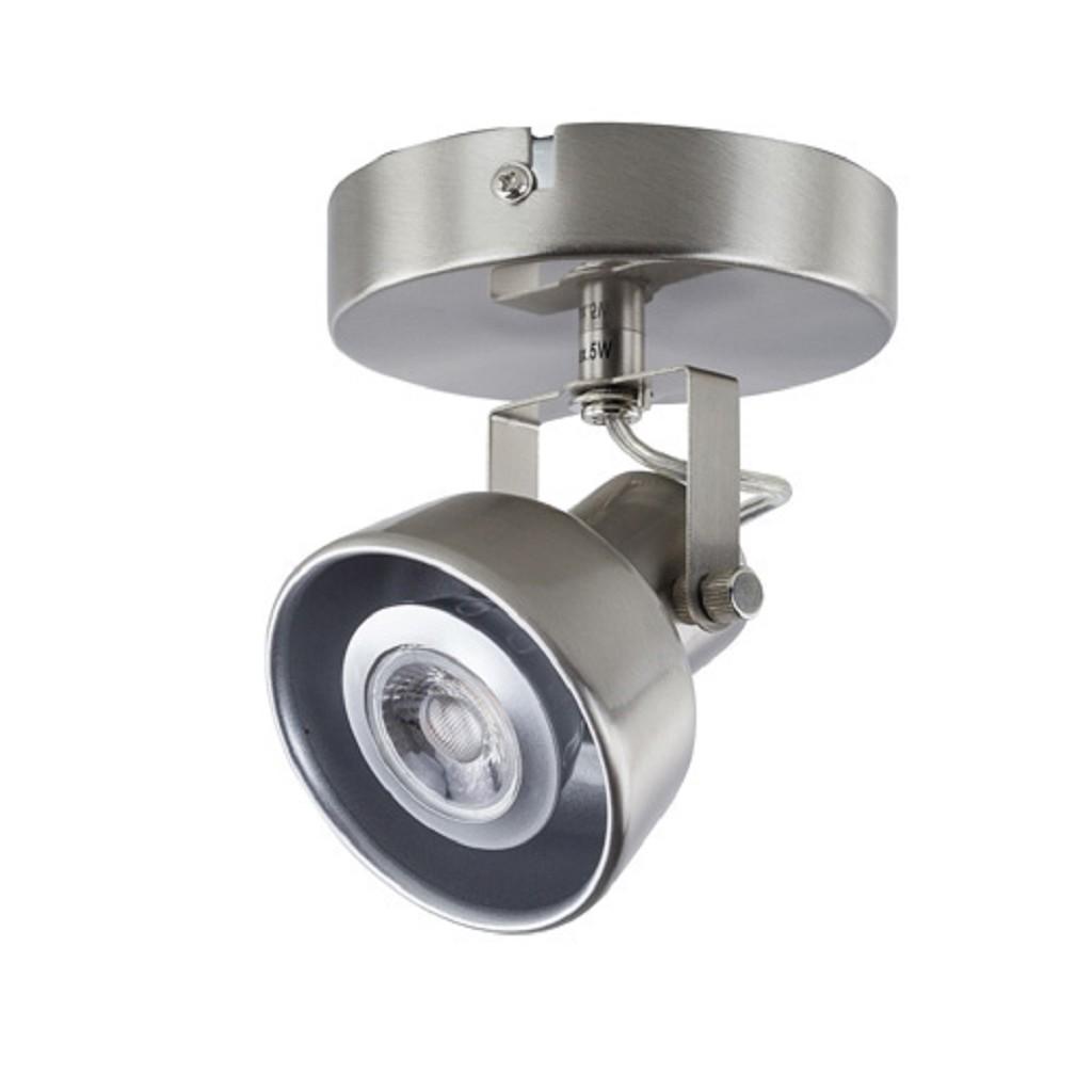 Spot nikkel 1-lichts landelijk incl.led