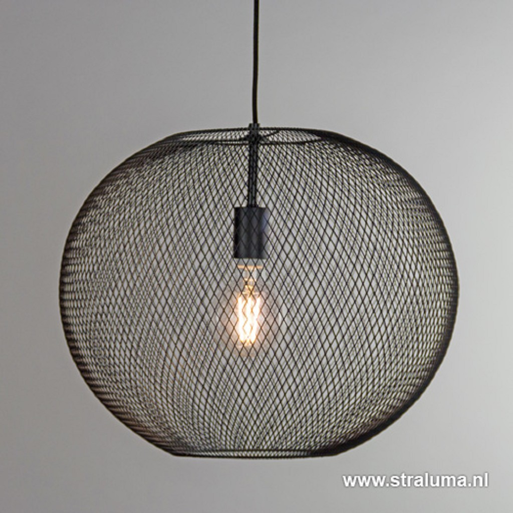 Zwarte hanglamp bol van gaas