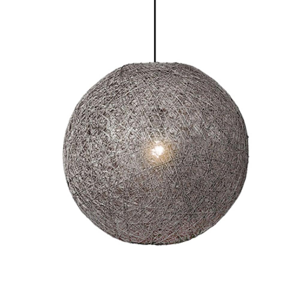 *Grijze Abaca hanglamp klein 35 cm
