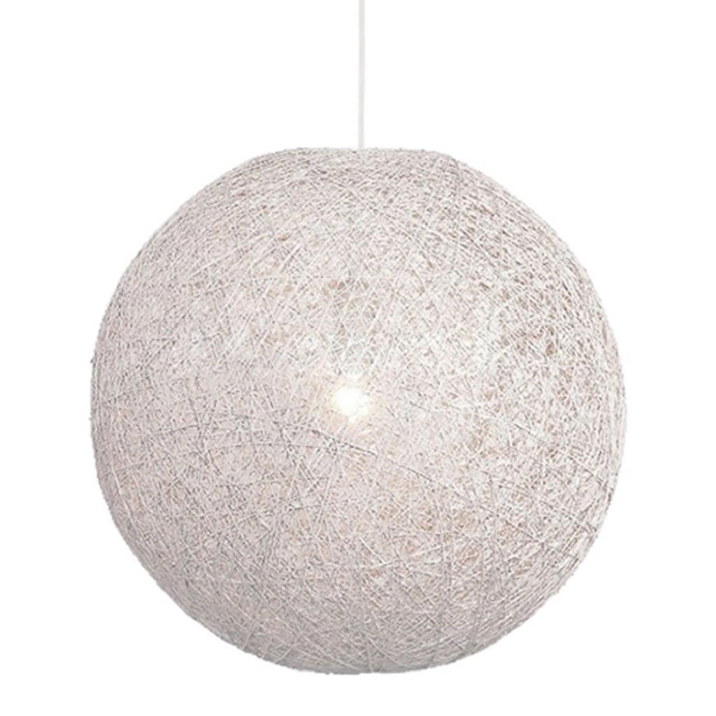 Hanglamp Abaca bol wit gevlochten 60cm