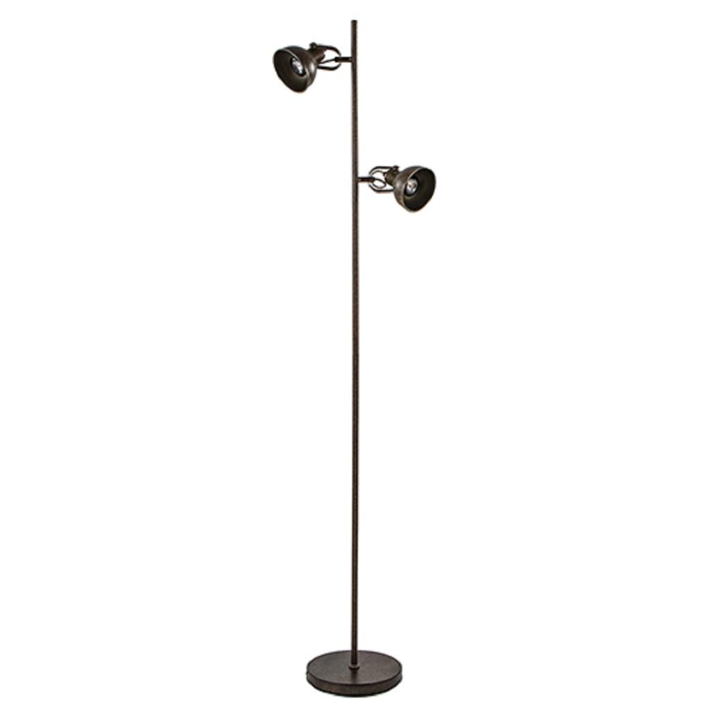 Landelijke vloerlamp roestbruin incl LED
