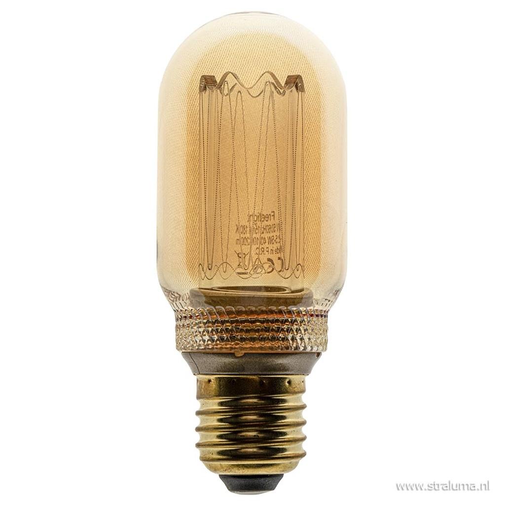 3-standen Led lamp 5 watt gold E27 T45