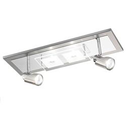 Design plafondlamp spots nikkel chroom