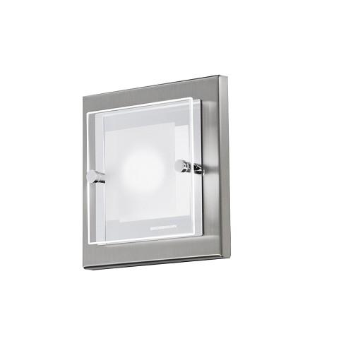 *LED plafonnière wandlamp domino nikkel