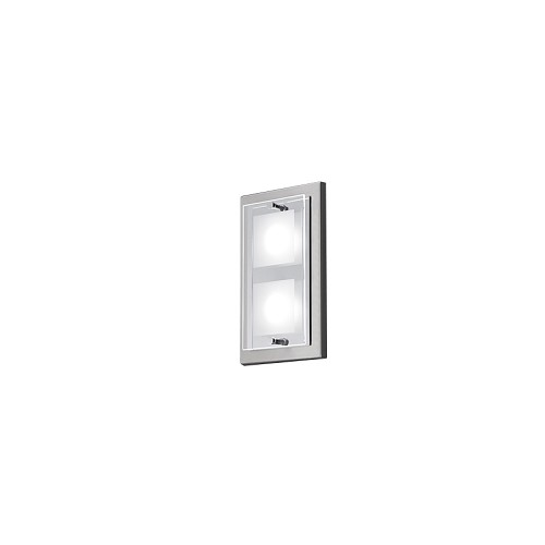 LED plafondlamp wandlamp domino nikkel