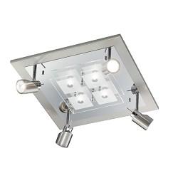 *Design plafondlamp spots nikkel chroom
