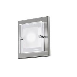 LED plafonnière wandlamp domino nikkel