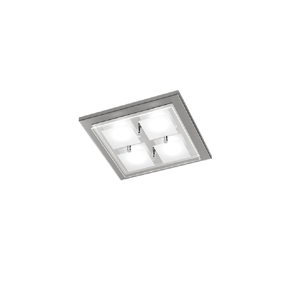 *Plafonnière LED domino nikkel keuken