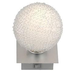 * Wandlamp aluminium bol met schakelaar