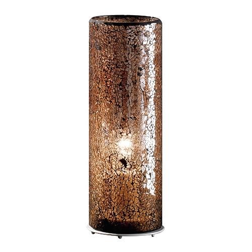 Decoratieve tafellamp glas bruin hal