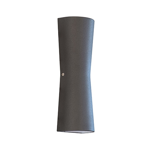Buitenlamp wand antraciet up+down IP54