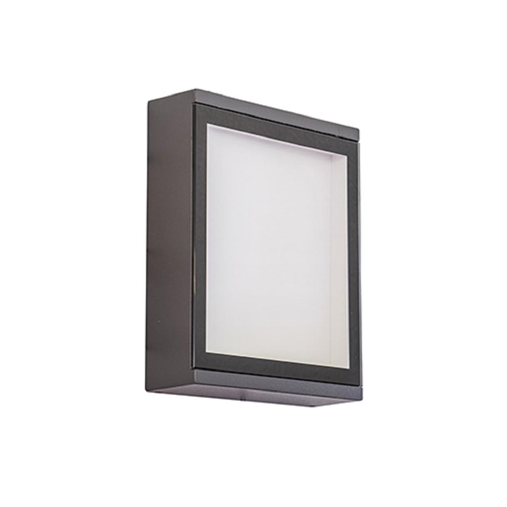 Moderne buiten wandlamp LED antraciet