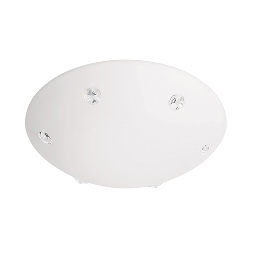 Plafondlamp wit kristal gang toilet