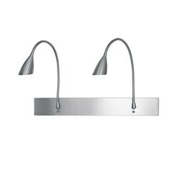 Wand-leeslamp staal flex slaapkamer
