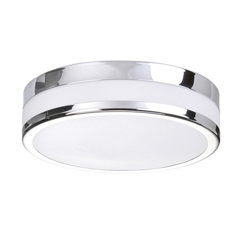Badkamer plafondlamp chroom wit IP44