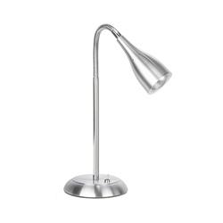 Modern bureaulamp alum. strak metaal