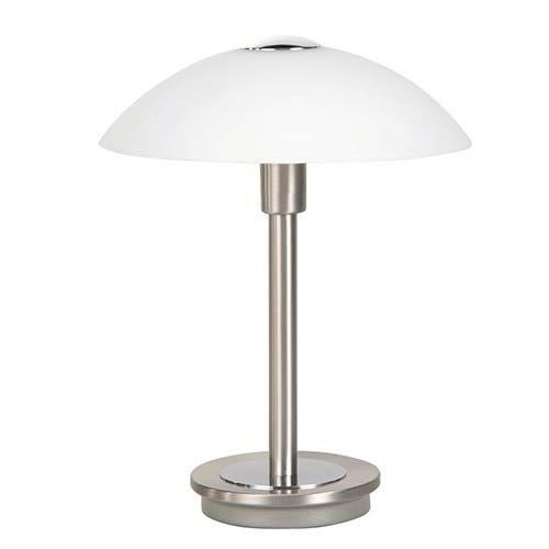 Tafellamp nikkel touchdimmer slaapkamer