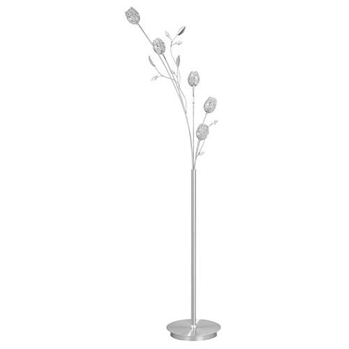 Romantische vloerlamp Toscane nikkel