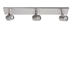 Plafondspot balk Rain 3-l nikkel IP44