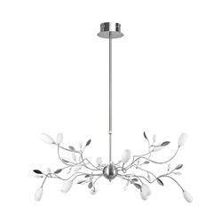 Decoratieve hanglamp Grosseto nikkel
